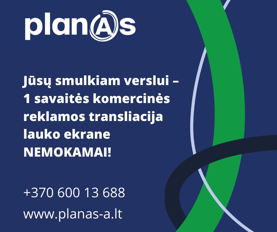Planas A lauko reklama SVV Anykščiai