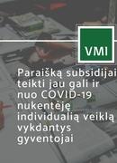 Subsidijos individualią veiklą vykdantiems gyventojams