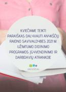 Užimtumo didinimo programos atranka