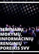 Seminarų, mokymų poreikis SVV