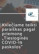 Tiesioginės COVID-19 paskolos