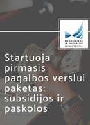 Pagalbos verslui paketas: subsidijos ir paskolos