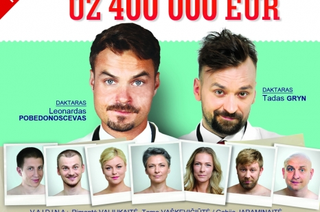 """Vasario 7 d. Intriguojanti komedija """"AMN€ZIJA už 400 000 €"""""""