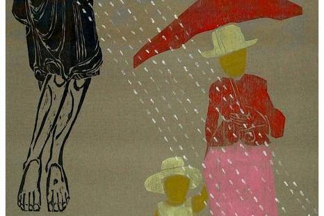 """Nuo gruodžio 7 d. iki sausio 21 d. veikia dailininko Kęstučio Vasiliūno paroda """"Lietus parke""""."""