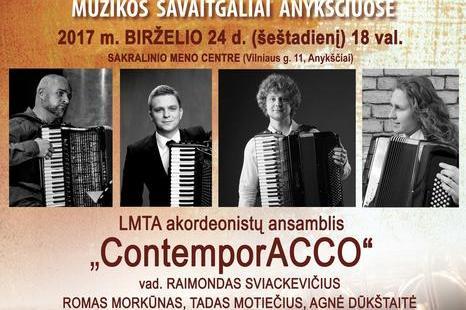 "LMTA akordeonistų ansamblio ""ContemporAcco"" koncertas"