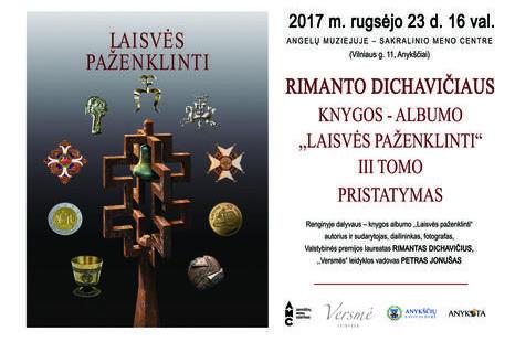 """Rimanto Dichavičiaus knygos – albumo """"Laisvės paženklinti"""" III tomo pristatymas."""