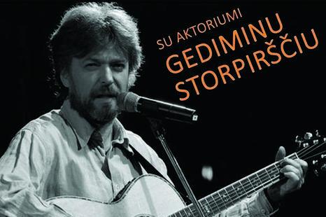 """Poezijos ir muzikos valanda """"MAMAME"""" su Gediminu Storpirščiu"""