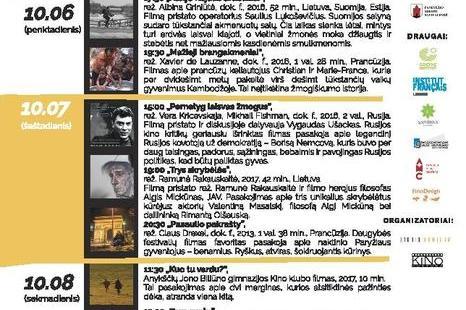 """Dokumentinių filmų festivalis """"EDOX"""""""