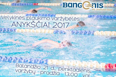 Velykinės plaukimo varžybėlės ANYKŠČIAI 2017