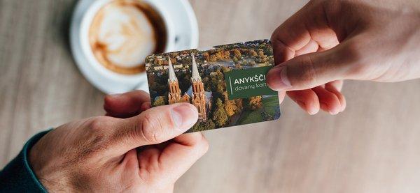 Anykščių miesto dovanų kortelė