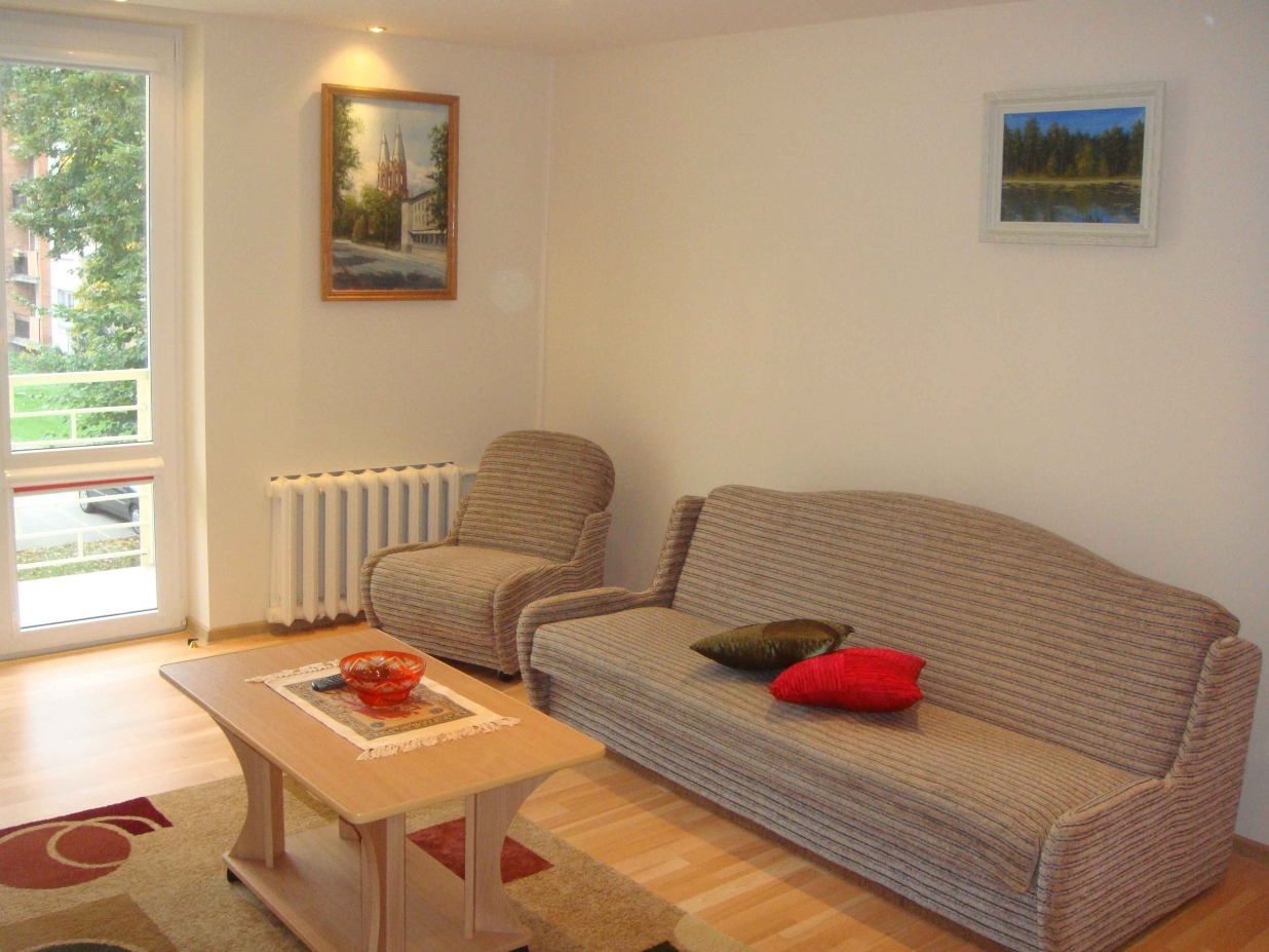 The Flat Has A Kitchen With All Necessary Furniture And Equipment (fridge,  Microwave, Dishes), Cable Television And Board Games.