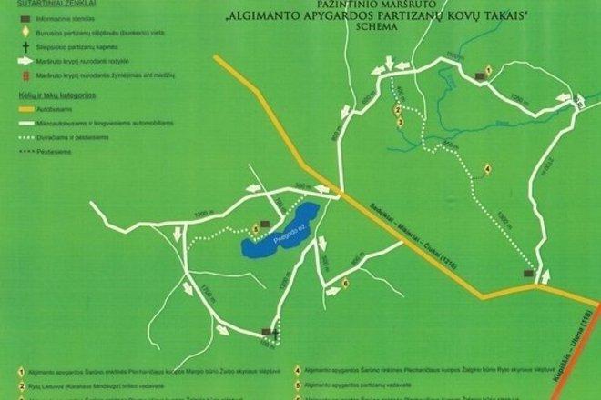 Recreational path in Algimantas County Guerrilla Battlegrounds